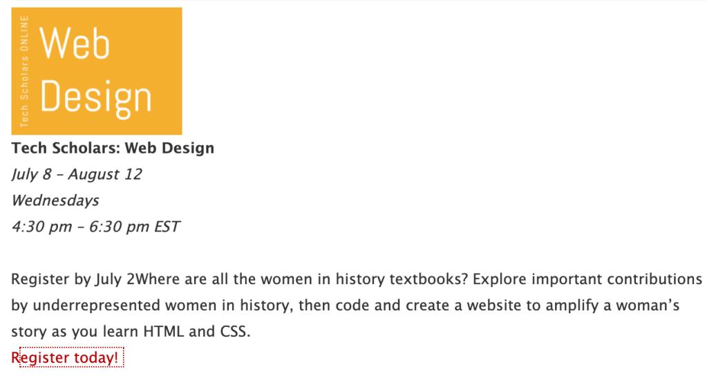 Tech Scholars: Web Design