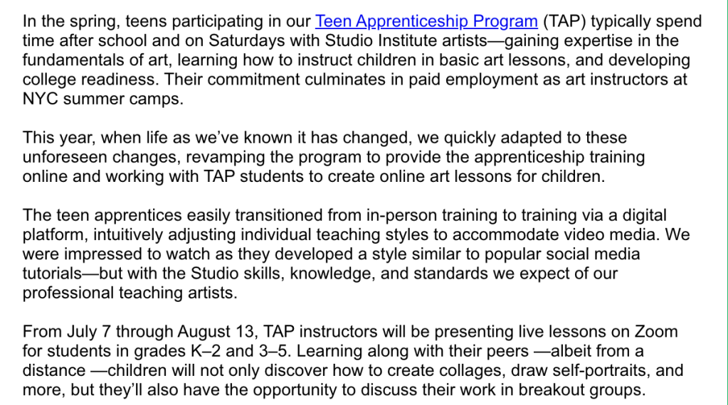 Teen Apprenticeship Program
